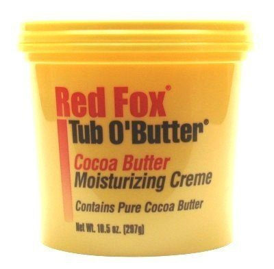 Red Fox Tub O'Butter Cocoa Butter 10.5 oz. (3-Pack) with Free Nail File