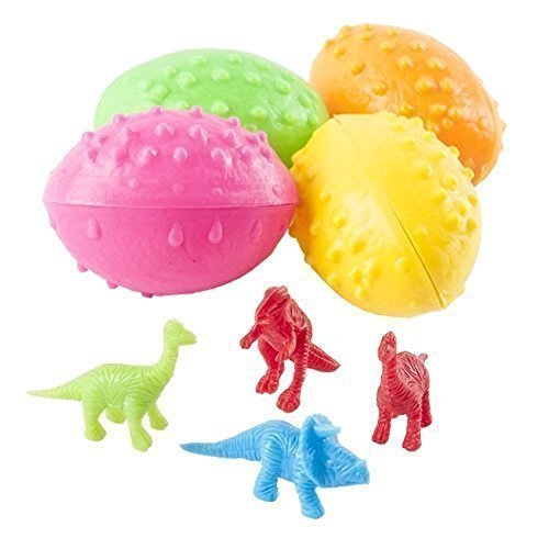 Dinosaur Eggs 2 Dz with Mini Toy Dinosaur Figures Inside - 24 Per Order -