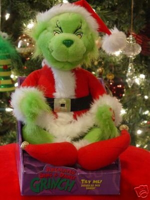 animated singing dance grinch doll santa christmas plush - Grinch Christmas Decorations Amazon