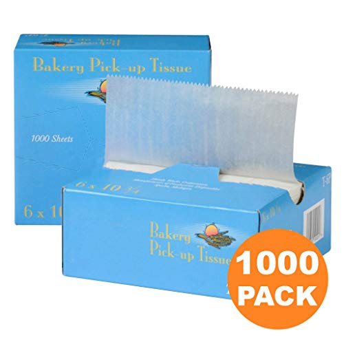 1000 Interfolded Food and Deli Dry Wrap Wax Paper Sheets with Dispenser Box, Bakery Pick Up Tissues, 6 x 10.75 Inch [2x500 Pack] (Waxed Paper Tissue)