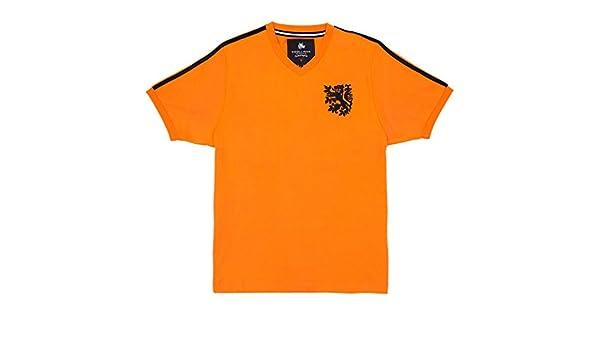 Coolligan - Camiseta de Fútbol Retro 1974 Cruyff - Color - Naranja ...
