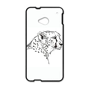 HTC One M7 Cell Phone Case Black The Cheetah carved cell phone case bgk7170699