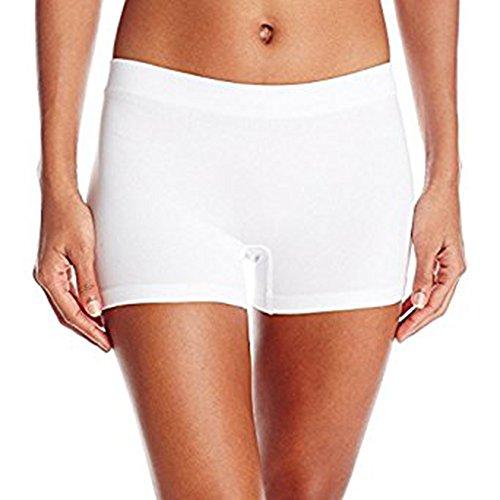 LYZ Womens Stretch Safety Pants Comfort Soft Smooth Boxer Briefs Boyshorts Underwear (Underwear Under $1 Women)
