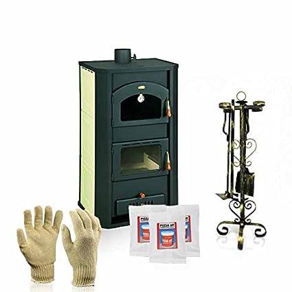 Caldera de leña estufas con horno Prity, Modelo FG W20, salida de calor 26