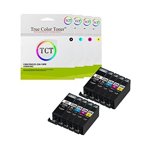 True Color Toner Pgi 225 Cli 226 10 Pack High Yield Pgi225 Cli226 Compatible Ink Cartridge Replacement For Canon Pixma Mg5120 Mg5220 Mg5320 Mg6120 Mg6220 Mg8120 Mg8220 Mx892 Ip4820 Ip4920 Printers