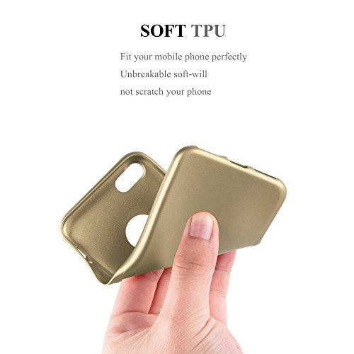 Cadorabo - Cubierta Protectora para >                                              Apple iPhone 8 / 7 / 7S                                              < de Silicona TPU con Efecto Metálico Mate