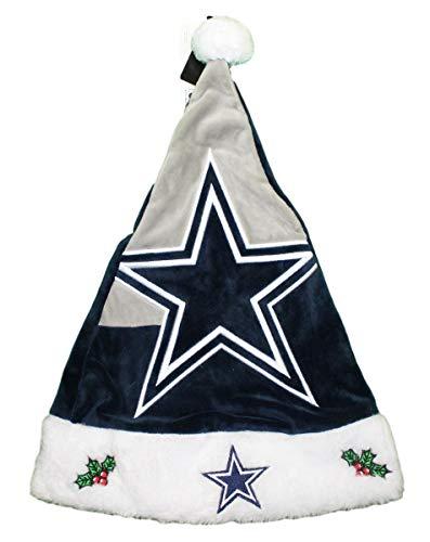 FOCO NFL Dallas Cowboys 2018 Basic Santa Hat, Team Color, One Size