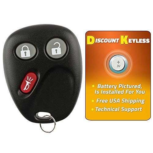 Discount Keyless Replacement Key Fob Car Entry Remote For Chevy Trailblazer GMC Envoy 15008008, 15008009