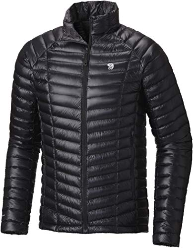 Mountain Hardwear Mens Ghost Whisperer Insulated Down Water Repellent Jacket, Non-Hooded - Black - ()