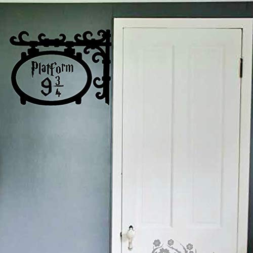 Stickerz Andén 9 3/4 Puerta Adhesivo de Pared Sala Infantil ...