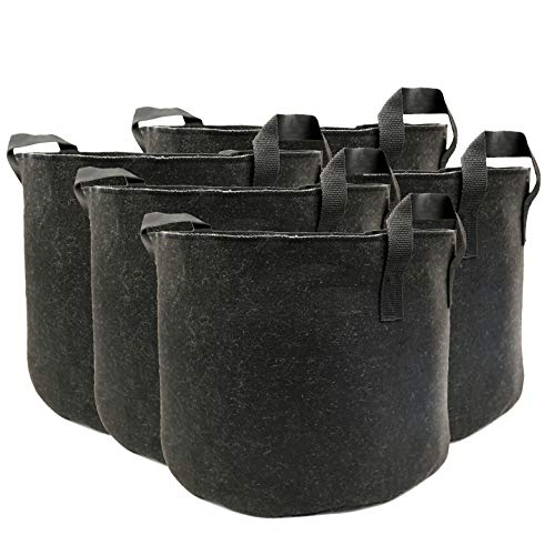 DAFUANY 5 Gallon Grow Bags Planter Container Aeration Fabric Pots with Handles