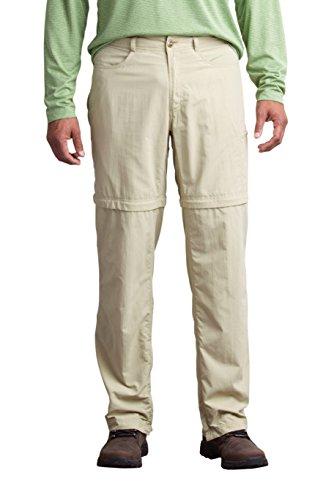 ExOfficio Men's Bugsaway Sol Cool Convertible Ampario Pants, Light Khaki, 38 by ExOfficio