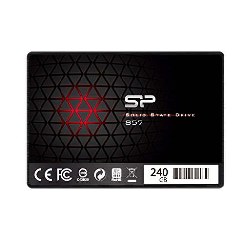 Silicon Power/Marvell Controller 240GB S57 (SLC Cache Boost with Read up to 500 MB/s) SATA III Internal Solid State Drive- Free-download SSD Health Monitor Tool Included by Silicon Power