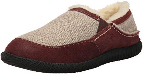 Acorn Men's Rambler Moc Slippers Grey Ragg Wool 9
