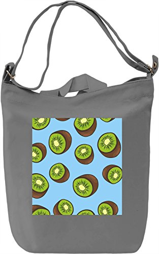 Kiwi Print Borsa Giornaliera Canvas Canvas Day Bag| 100% Premium Cotton Canvas| DTG Printing|