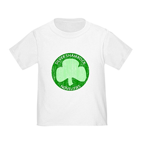 CafePress Silver Shamrock Toddler T-Shirt Cute Toddler T-Shirt, 100% Cotton