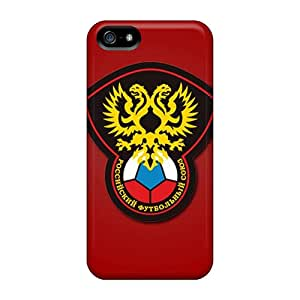 For Iphone 5/5s Premium Tpu Case Cover Russia Football Logo Protective Case