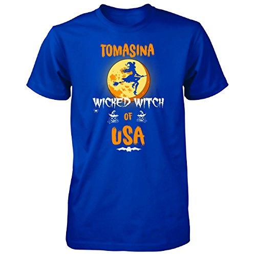 Tomasina Wicked Witch Of Usa. Halloween Gift - Unisex Tshirt Royal (Tomasina Halloween)