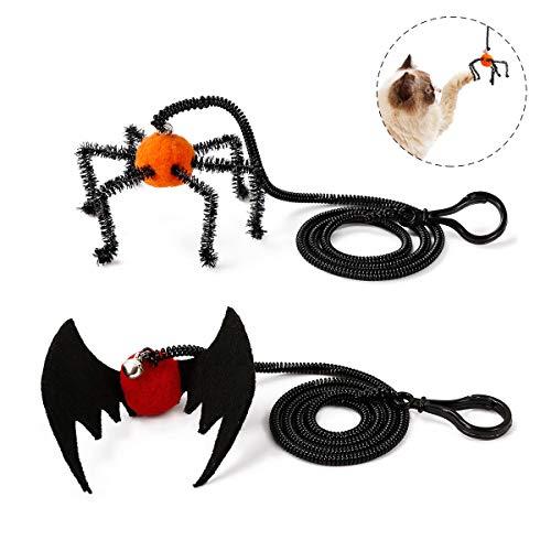 WINBST 2 Piezas Cat Play Toy Cat Halloween Spider Bat Design ...