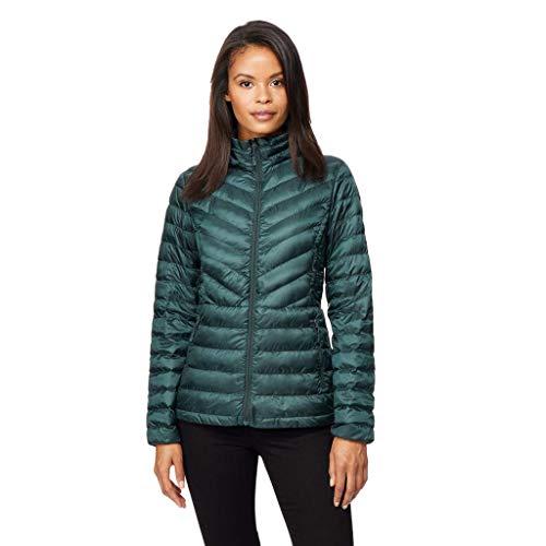 32 DEGREES Womens Nano Light Chevron Down Packable Jacket, Scarab, Medium - Nylon Down Jacket