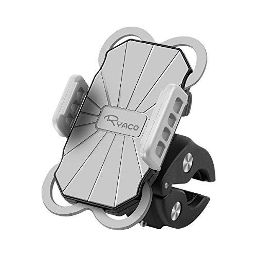 Ryaco - Soporte Universal para teléfono de Motocicleta, rotación de 360 Grados, para iPhone X, 8/8 Plus, 7/7 Plus, 6/6s...