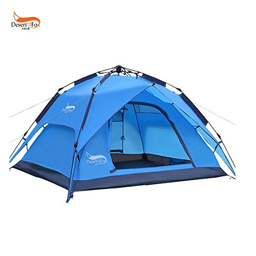(LightInTheBox 3-4 persons Tent Double Camping Tent One Room Automatic Tent Waterproof Rain-Proof for Camping 2000-3000 mm Oxford-200180130)