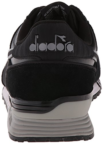 Scarpa Da Corsa Diadora Mens Titan In Pelle Nera / Nera