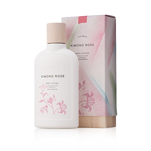 - Thymes - Kimono Rose Body Lotion - Moisturizing with Soft Vanilla Rose Scent - 9.25 oz
