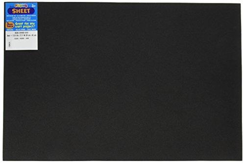 Bulk Buy: Darice Foamies Foam Sheet Black 3mm thick 12 x 18