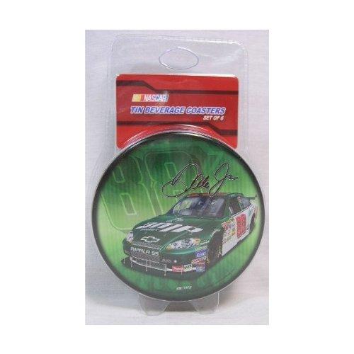 (Dale Earnhardt Jr 6 Piece Tin Coaster Set Collectable NASCAR)
