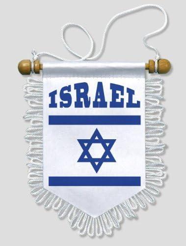 BLASON ECUSSON FOOTBALL 13 X 15 CM FANION VOITURE ISRAEL