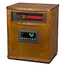 Lifesmart ZCHT1097US 6 Element 1500W Indoor Portable Infrared Quartz Mica Space Heater with 3 Heat Settings