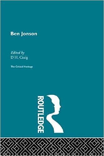 Ben Jonson: The Critical Heritage