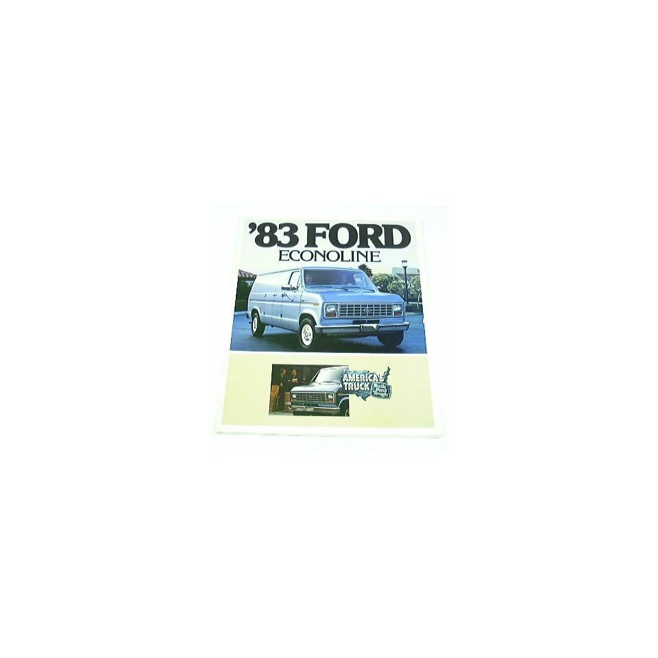1983 83 Ford ECONOLINE Van BROCHURE E100 E150 E250 E350
