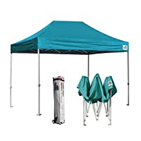 Eurmax 8x12 EZ Pop Up Canopy Tent Entry Commercial Level w/Roller bag (Turquoise)
