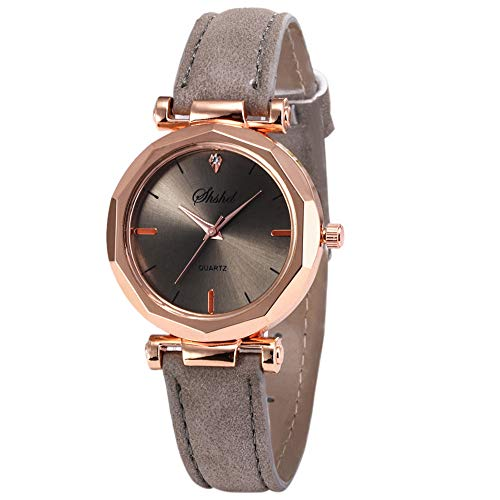 Clearance Sale!DEESEE(TM)Fashion Women Leather Casual Watch Luxury Analog Quartz Crystal Wristwatch ()