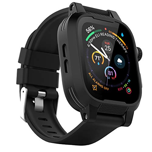IP68 Waterproof Watch Case for 42mm Apple Watch Series 3 & 2 Heavy Duty Shockproof Impact Resistant iWatch Full Sealed Case with Premium Soft Silicone Replaceable Watch Band ()