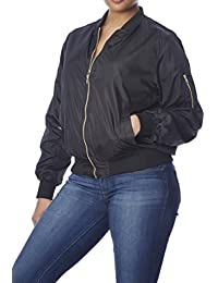 Love Connection Bomber Jacket for Women, Plus Size, Fully...
