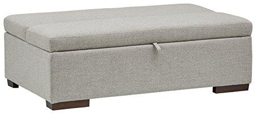(Rivet Fold Modern Ottoman Sofa Bed, 48