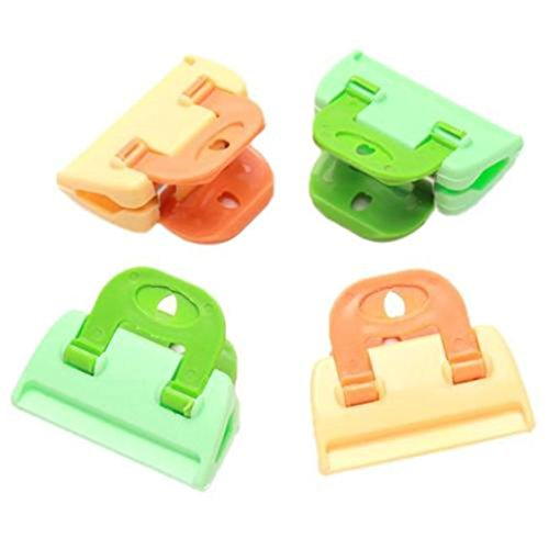 UNKE 4Pcs Kitchen Storage Organizers Bag Clip,Keep the Food Fresh and Tasty Clamp Package