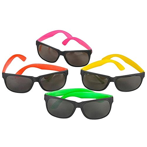 24-Pack-80s-Style-Neon-Party-Sunglasses-Fun-Gift-Party-Favors-Party-Toys-Goody-Bag-Favors