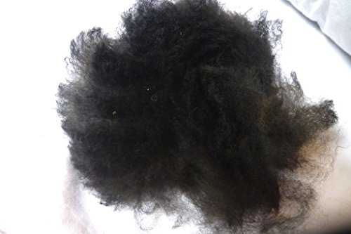- Black huacaya Cria Baby Alpaca spinning felting crafting Fiber Fleece