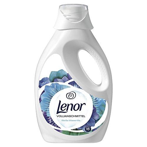 Lenor Vollwaschmittel Flüssig Weiße Wasserlilie, 1.2L, 3er Pack (3 x 16 Waschladungen)