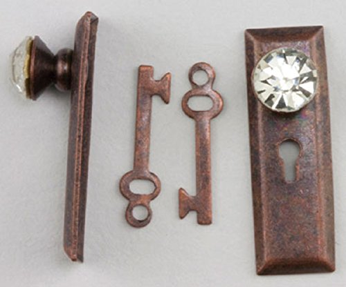 Miniature Crystal Classic Door Knob and Back Plate in Oil Rubbed Bronze Finish by Handley House ()