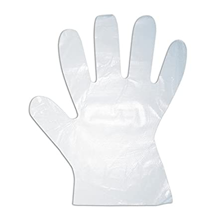 Solo Disposable Clear Plastic Gloves (Transparent, Pack of 100)