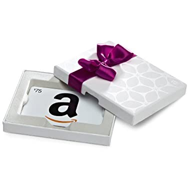Amazon.com $75 Gift Card in a White Gift Box (Classic White Card Design)