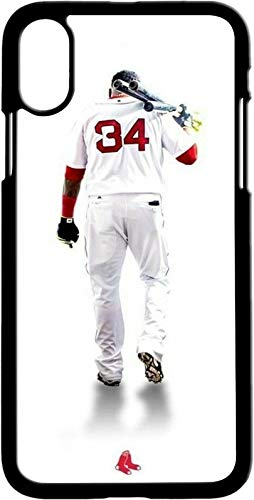 Compatible for iPhone Xs Max Case,Boston Red Sox David Ortiz Design Soft TPU Ultra-Thin Shockproof Phone Protective Cover Boston Red Sox Case