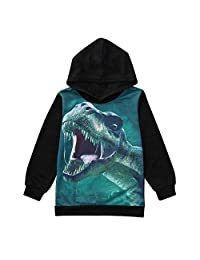 Staron  Dinosaur Hoodie Tops Baby Boys Casual Hoodies Long Sleeve Hooded Sweatshirts