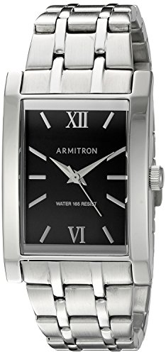 Armitron Men's 20/5112BKSV Silver-Tone Bracelet Watch