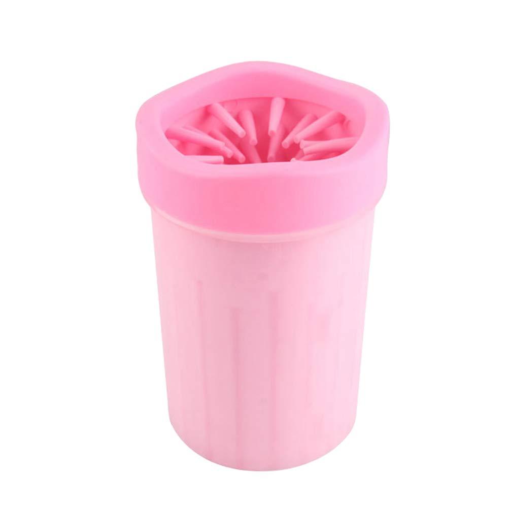 Lvguang Portable Pet Fußwaschmaschine Dog Paw Cleaner Hundefußreiniger Tasse mit Weicher Silikonbürste